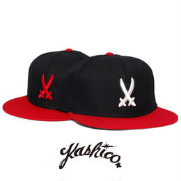 """KASHICO"" SHOGUN CROSS SWORD CAP  [RED/WHITE]"