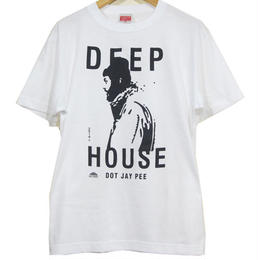 DEEP HOUSE DOT JAY PEE TEE  [WHITE]