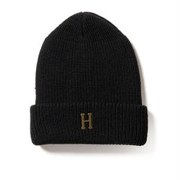 HUF / BRASS H MILITARY BEANIE (BLACK)