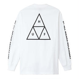 HUF  / ESSENTIALS TT L/S TEE (WHITE)