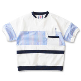 SON OF THE CHEESE / cool max patch work TEE(WHITE)
