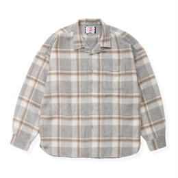 SON OF THE CHEESE / Long flannel shirts (GRAY)
