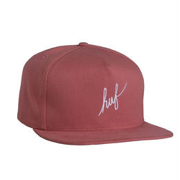 HUF / SCRIPT SNAPBACK- MADE IN USA (SALMON)