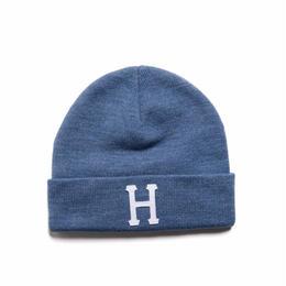 HUF / CLASSIC H BEANIE (DENIM HEATHER)