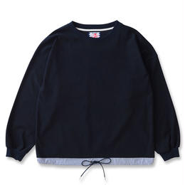 SON OF THE CHEESE / draw code LS tee (NAVY)