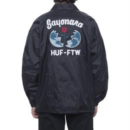HUF / SAYANORA COACHES JACKET (BLACK)