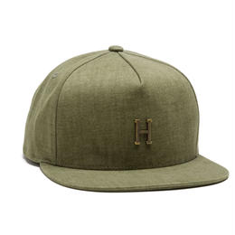 HUF / SMALL METAL H STRAPBACK / OLIVE