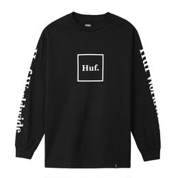 HUF  / DOMESTIC L/S TEE (BLACK)
