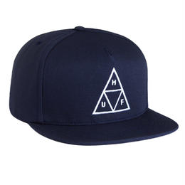 HUF / TRIPLE TRIANGLE SNAPBACK (NAVY)