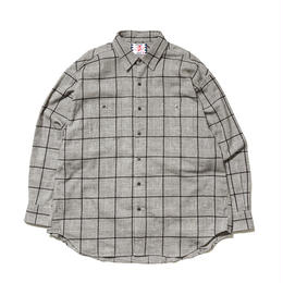 SON OF THE CHEESE / Big Check Shirt(GRAY)