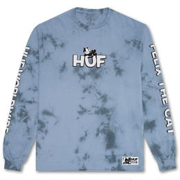 HUF / FELIX CRYSTAL WASH L/S TEE (LIGHT BLUE)
