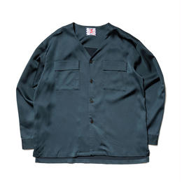 SON OF THE CHEESE / NO COLLAR Shirt(NAVY)
