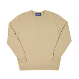 Only NY / Waffle Knit Crewneck Sweater (Almond)