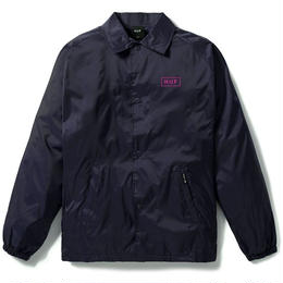 HUF / BAR LOGO COACHES JACKET (NAVY)