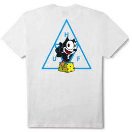 HUF / FELIX TRIPLE TRIANGLE S/S TEE (WHITE)