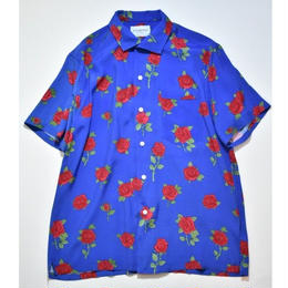 Black Weirdos /  RoseSkull Aloha Shirt (Royal Blue)