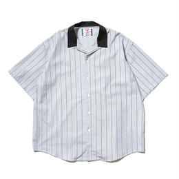 SON OF THE CHEESE / Stripe Cleric Shirt(BLUE)