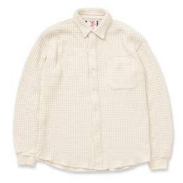 SON OF THE CHEESE / Waffle shirts (OFF WHITE)