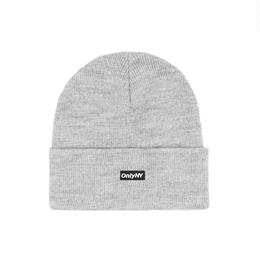 Only NY / Block Logo Beanie (Heather Grey)