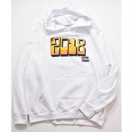 TACORIDE / DOG OF THE YEAR HOODIE (WHITE)