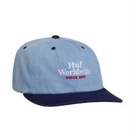 HUF / WORLDWIDE DENIM 6 PANEL HAT (TWILIGHT BLUE)