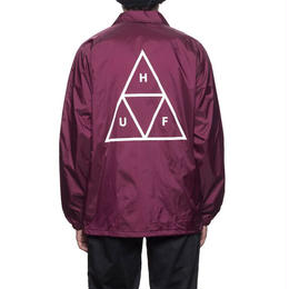 HUF / TRIPLE TRIANGLE COACHES JACKET (MAROON)
