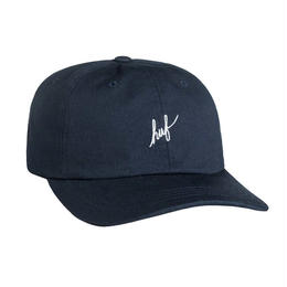 HUF / SCRIPT CURVED BRIM HAT (NAVY/ WHITE)