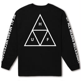 HUF  / ESSENTIALS TT L/S TEE (BLACK)