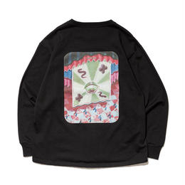SON OF THE CHEESE / Round LS TEE(BLACK)