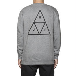 HUF / ESSENTIALS TT CREW (GREY HEATHER)