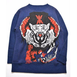 Black Weirdos / HUMANCHU Knit (NAVY)