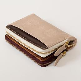 ダブルファスナー二つ折り財布
