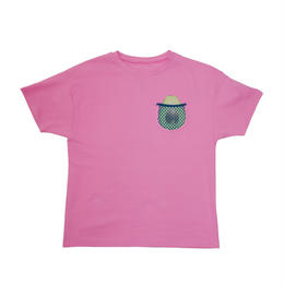 AVOCADO MESH POCKET BIG TEE (pink)