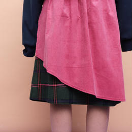CHECK & CORDUROY 2WAY SKIRT (pink)