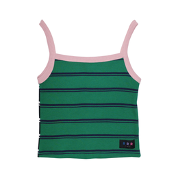 REVERSIBLE KNIT CAMI (green×black)