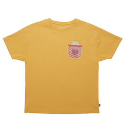 AVOCADO MESH POCKET BIG TEE (yellow)