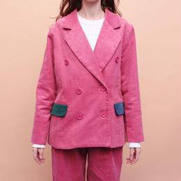 PINK CORDUROY DOUBLE JACKET