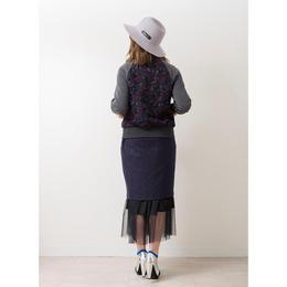 チュール付きスカート