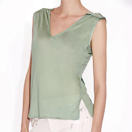 PEARLY SILK KNIT TOP