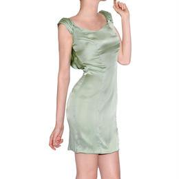SILK OPEN-BACK DRESS