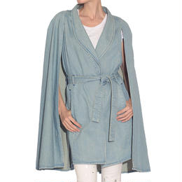 Denim Cape Coat