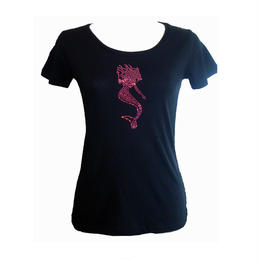 PINK MERMAID SWAROVSI LOGO T-SHIRTS