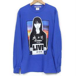 KYNE & THE DAWN B  森羅万象別注 夜明けガール  長袖Tシャツ  ブルー with Sticker