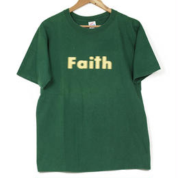 USED Faith Walking By Faith Not By Sight  Tシャツ グリーン