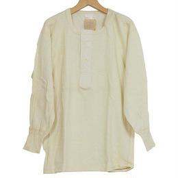 Dead Stock デッドストック 50s フランス軍 メンズ ヘンリーネックシャツ NATURAL