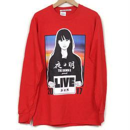 KYNE & THE DAWN B  森羅万象別注 夜明けガール  長袖Tシャツ  レッド with Sticker