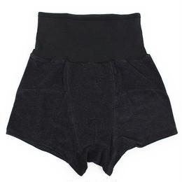 Gown & Foundation ガウン アンド ファンデーション 腹巻付き コットン シルク ボクサーパンツ BLACK