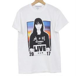 KYNE & THE DAWN B  森羅万象別注 夜明けガール Tシャツ  ホワイト with Sticker