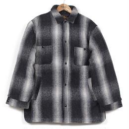 USED Cal Craft  オンブレチェック  ウールキルティングジャケット ブラック/ホワイト M