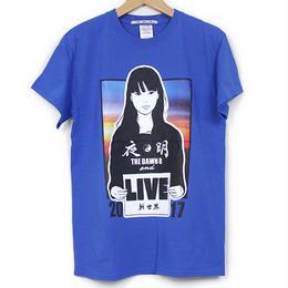 KYNE & THE DAWN B  森羅万象別注 夜明けガール Tシャツ  ブルー with Sticker